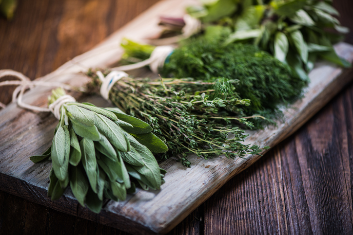 Culinary Herbs, Parsley, sage, rosemary, thyme