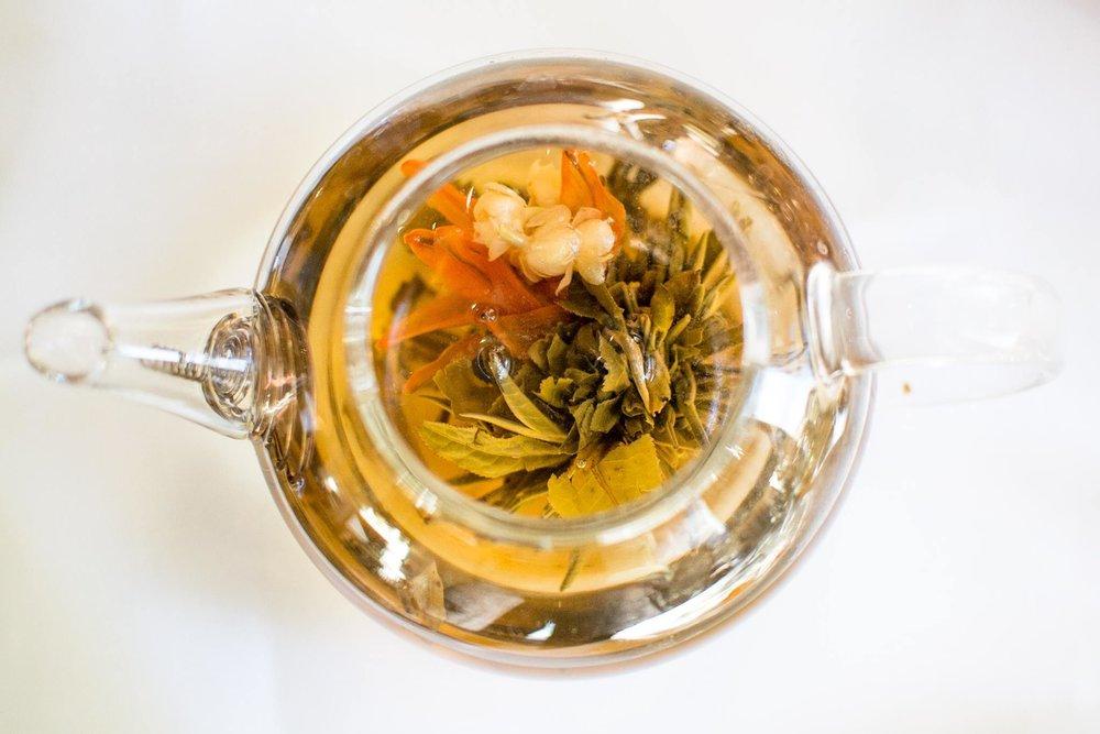 Blooming Calendula Dandelion Tea