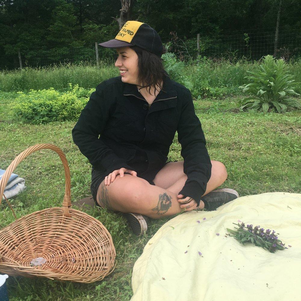 Making herbal burning bundles