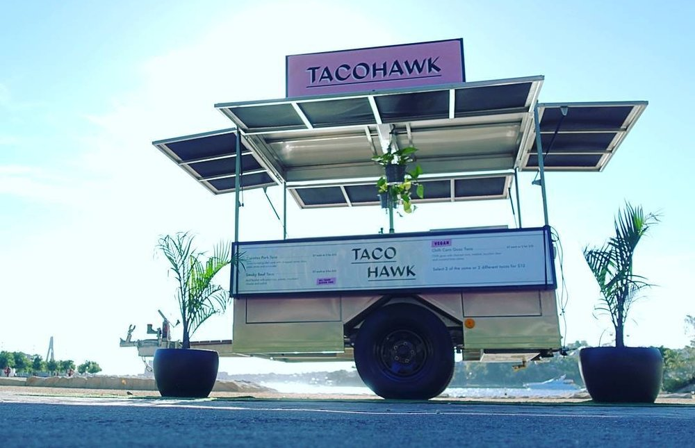 Tacohawk serves up delicious tacos. The entire menu is gluten free with vegan options available.