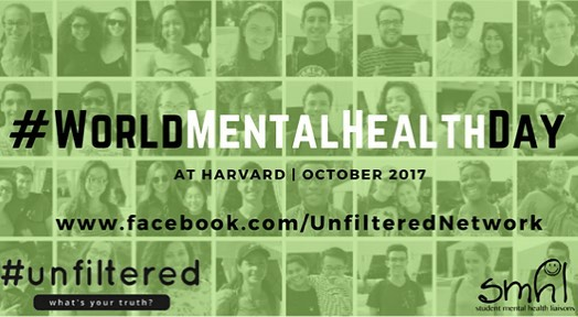 A million thank you's to everyone who participated in our collaboration with Unfiltered for World Mental Health Day.  In case you missed them,  the stories four wonderful mental health advocates shared with us are linked on our Facebook.  And lastly, always remember to take care of yourselves, always remember that you are not alone, and always remember to live every day like it is World Mental Health Day.