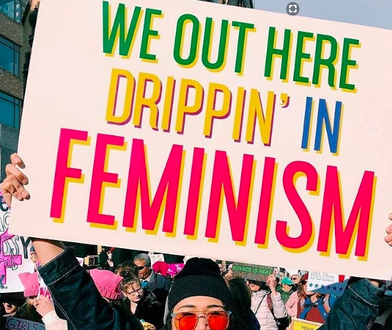 Photo Credit: [Photo via @sophiedoingthings_] via  [Guest of a Guest dot com, The Best Signs From The NYC Women's March 2018 by Stephanie Maida · January 22, 2018]