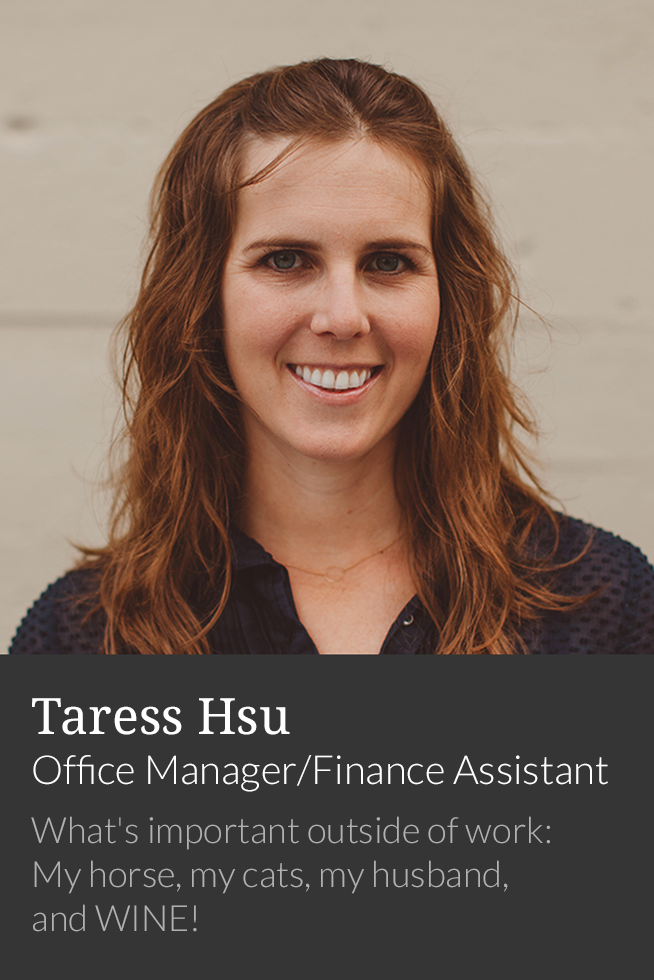 Taress Hsu, Office Manager/Finance Assistant