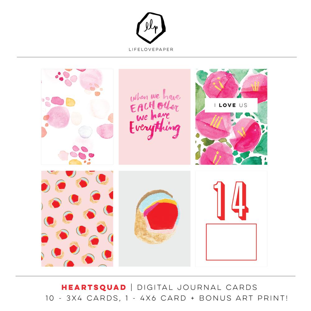 Heartsquad Digital Journal Cards Lifelovepaper