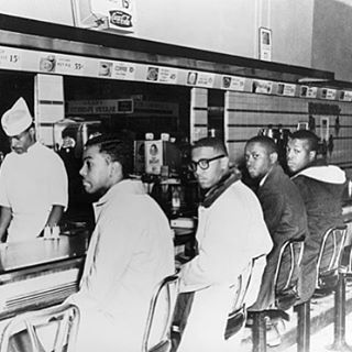 February 1, 1960: Black college students from NC A&T stage a sit-in at a segregated lunch counter in Greensboro, NC, beginning the first of the historic sit-ins of the 1960s Civil Rights Movement.  #BlackHistoryMonth ✊🏾