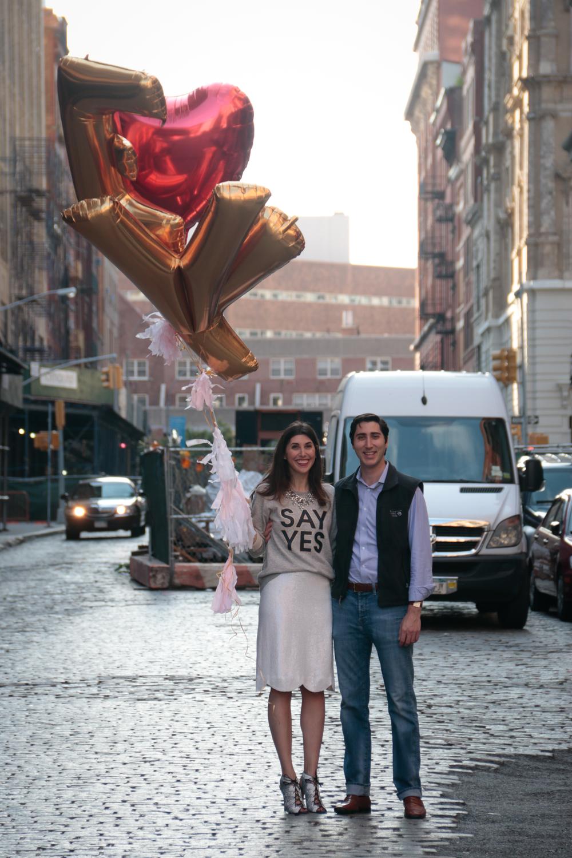 Tribeca NYC Engagement Photography