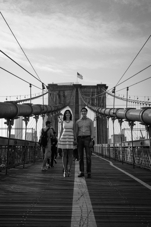 NYC Brooklyn Bridge Engagement Photography