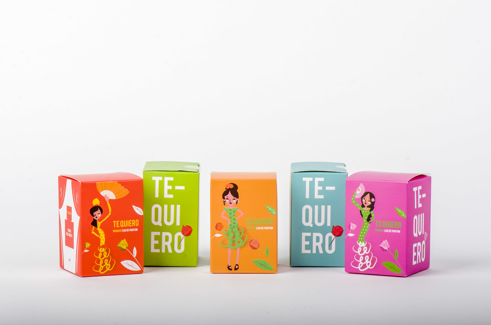 Te Quiero Perfume    Packaging/ Illustration