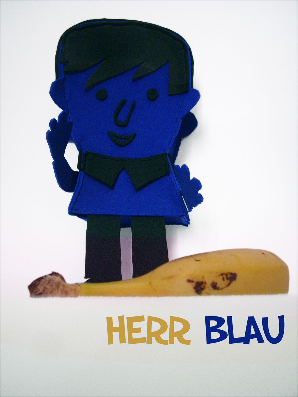 Herr Blau    Illustration