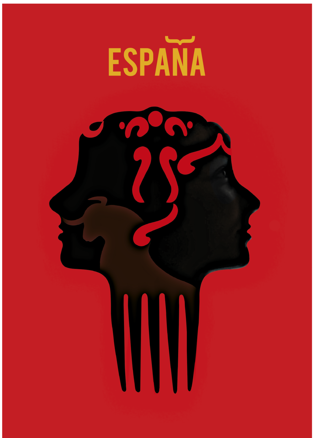 spain  08  _  Poster created in first intance as an image which compact spanish culture, posterior it has been used like Magazine cover