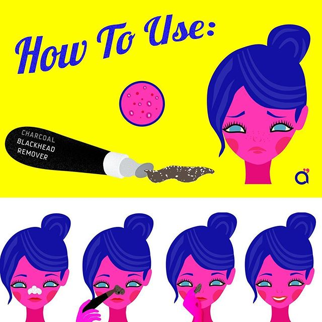 Make up Instructions: Charcoal Blackhead Remover #화장품사용법 #화장품 #방법 #사용법 #instructions #makeupillustration #로고 #cosmeticdesign  #belleza  #cosmetics #design #corporateidentity #디자인 #일러스트 #ilustracion #diseño #cosmética #cosmeticacoreana #maquillaje #makeup #koreanmakeup #화장품디자인 #howtouse #corea #korea #한국 #피푸 #beauty #design #blackhead #poreremover
