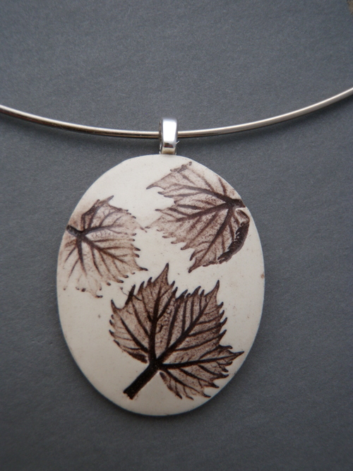 Sycamore leaf pendant brown cree lahti ceramics sycamore leaf pendant brown aloadofball Image collections