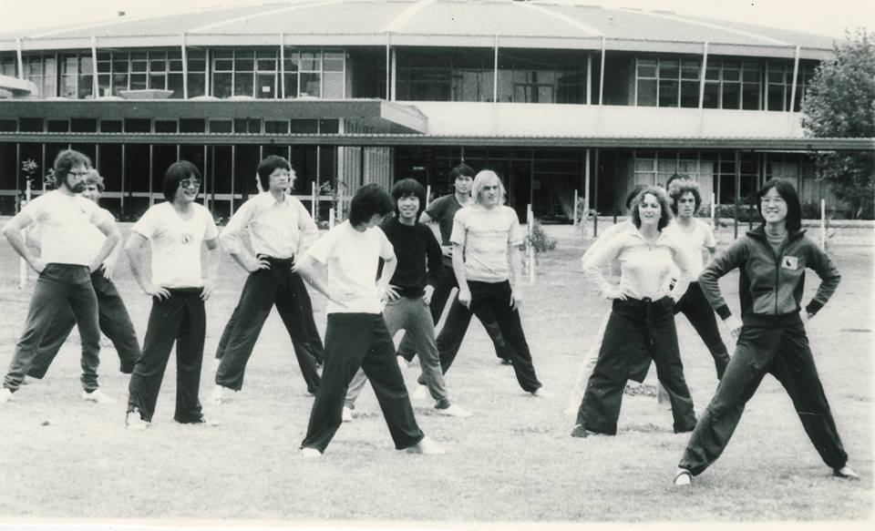 Jan Lee (far right) leads The Tai Chi Club, 1977.