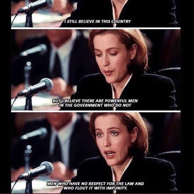 Say it Scully!! Truth! #Impeach45