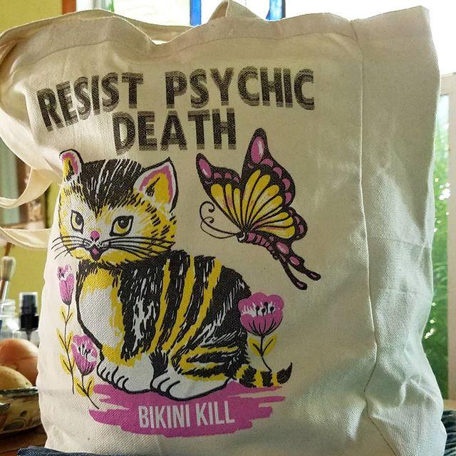 New tote bags are coming soooon! #bikinikill  #letigre  #riotgrrrl