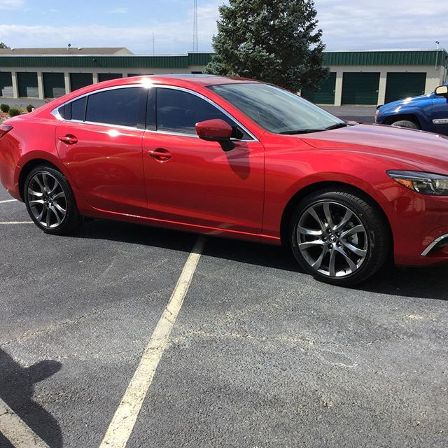 New babies or old babies, either way we will give them a fresh sleek look! #mazda6 #3m #windowfilm