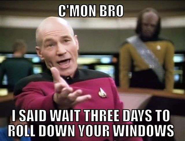 I know how tempting it can be to roll your windows down, especially during this awesome weather! However, this is the most important rule when you first get your windows tinted! We want to prevent peeling!!! #resistTheTemptation #windowtint #itsonlythreedays