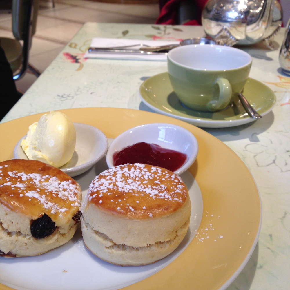 Tea & Scones at the Parlour in Fortnum & Mason London.