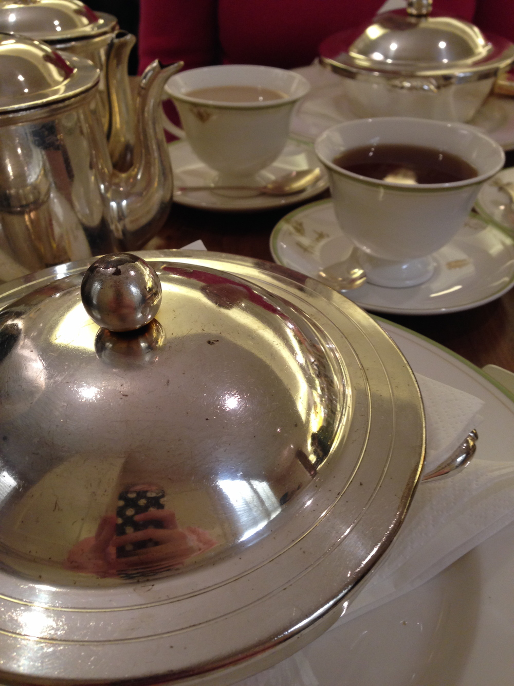Silver Service in the Harrods Tea Room