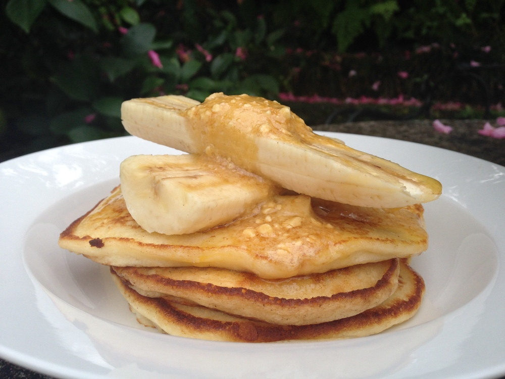Granger & Co London and Ricotta Hotcakes with Banana and Honeycomb Butter