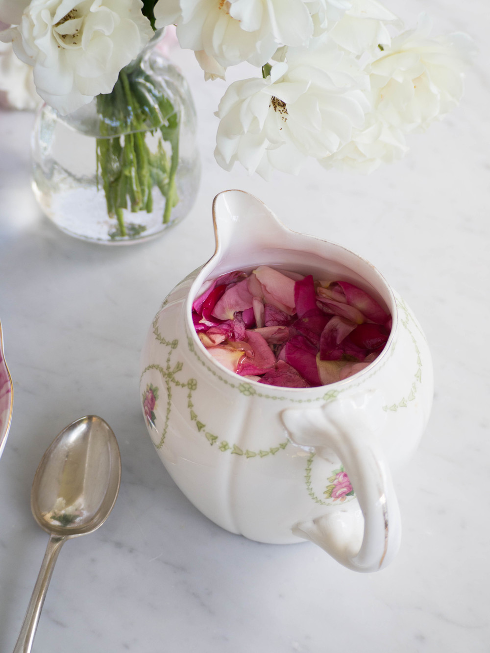 Homemade Rose Syrup - Kulinary Adventures of Kath