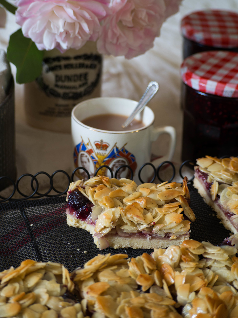 Berry Almond Slice with Homemade Triple Berry Jam
