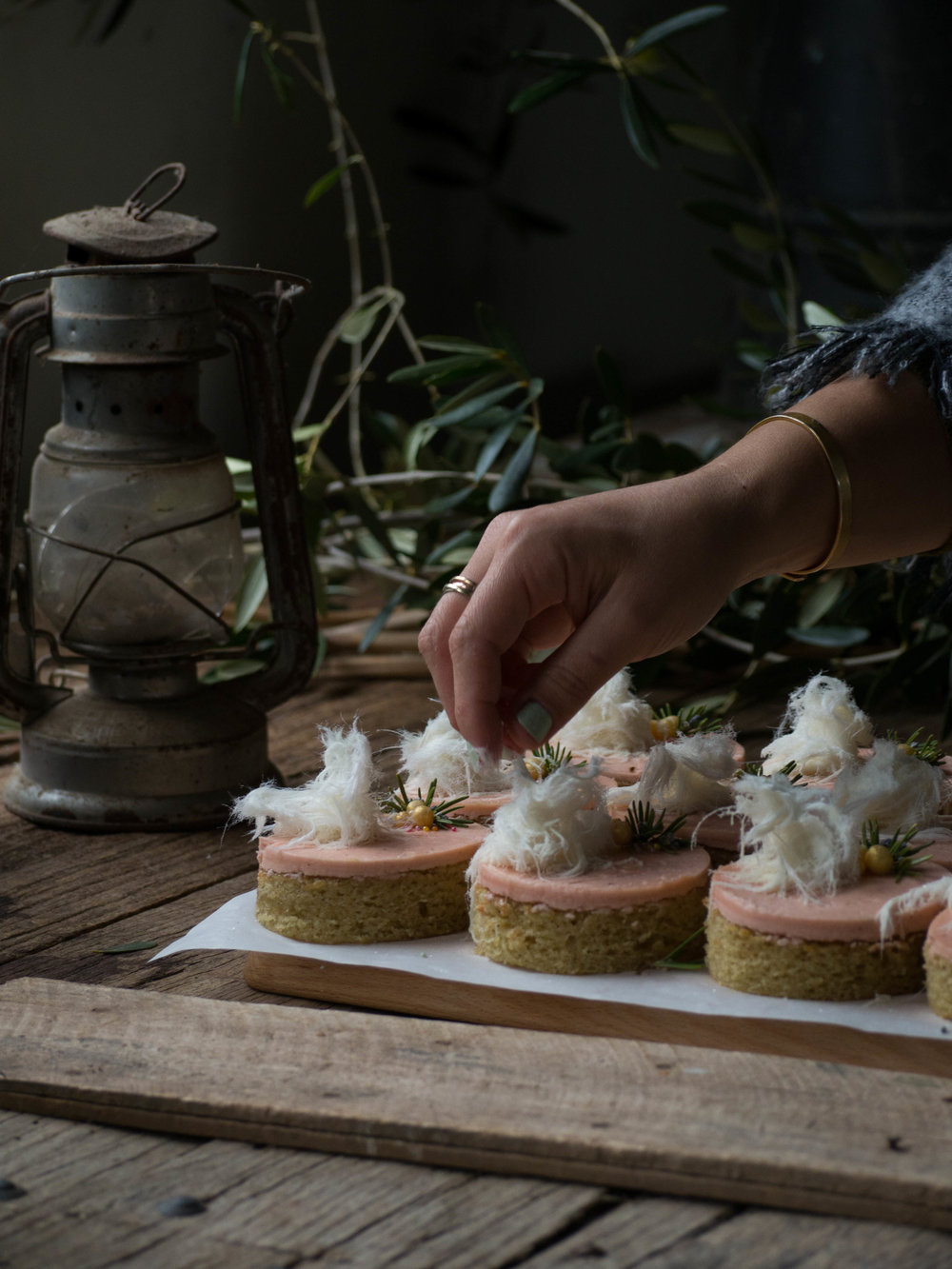 Rhubarb & Olive Oil Cakes - Made by Molly Yeh