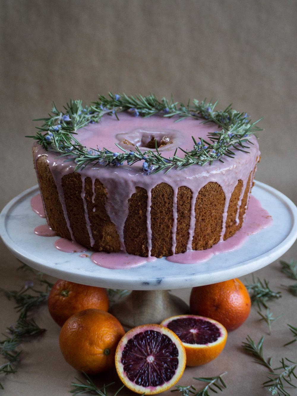 Blood Orange Chiffon Cake