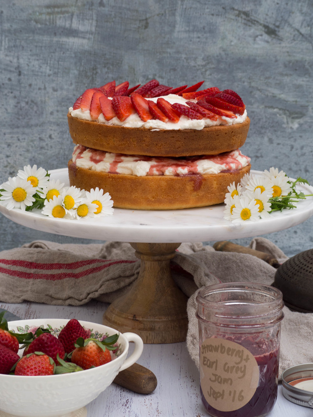 Strawberry & Earl Grey Cake