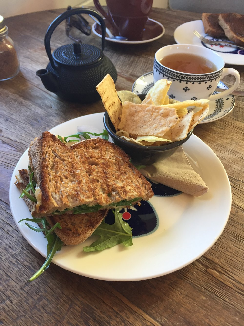 Ham & Cheese Toastie & Peppermint Tea