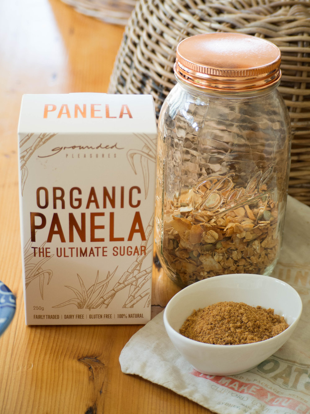 Grounded Pleasures  Organic Panela Sugar - used in crumble mixture