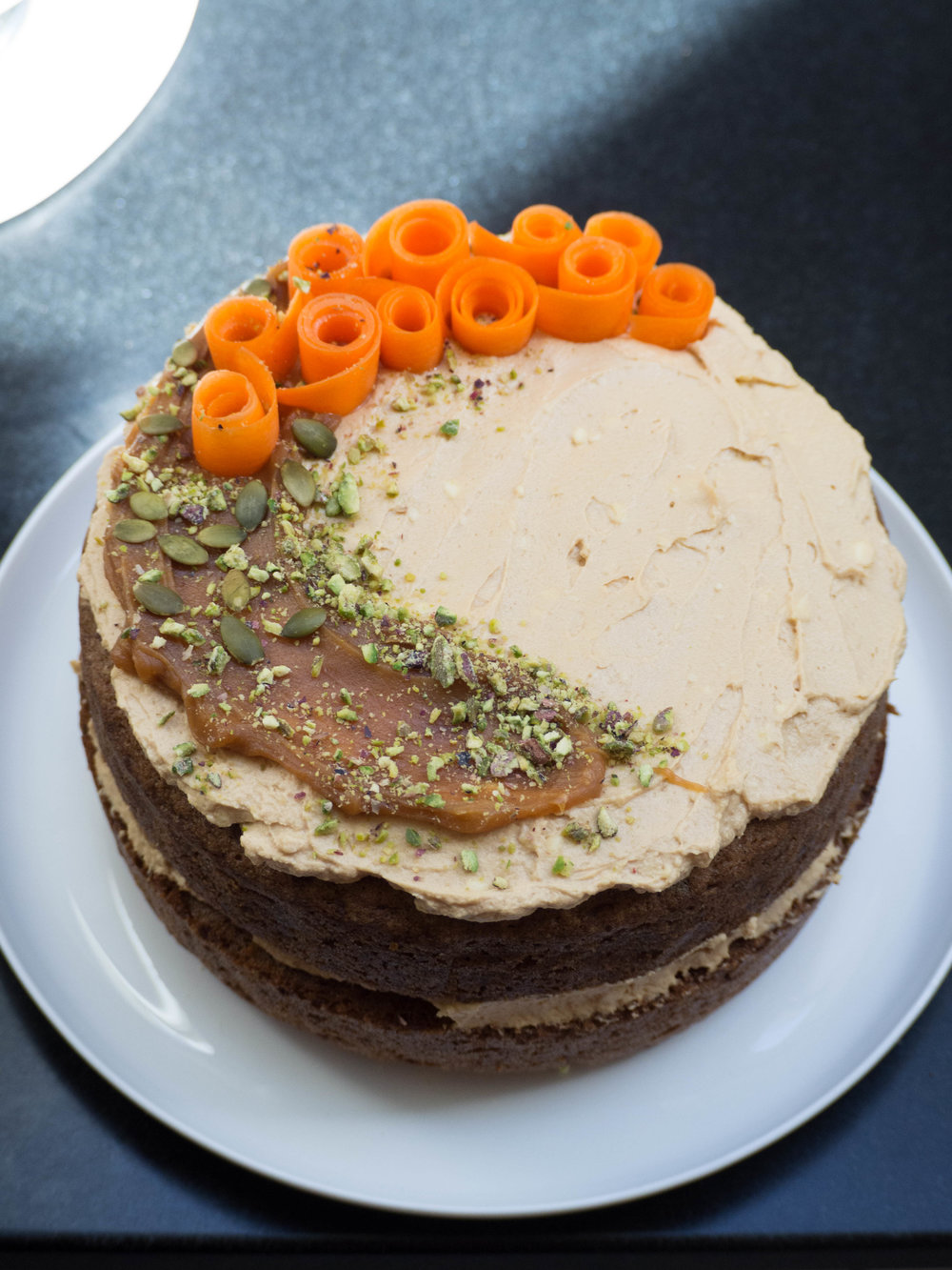 Carrot Cake with Hawaij and Caramel Icing