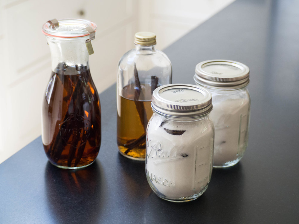 Homemade Vanilla Extract and Vanilla Sugar