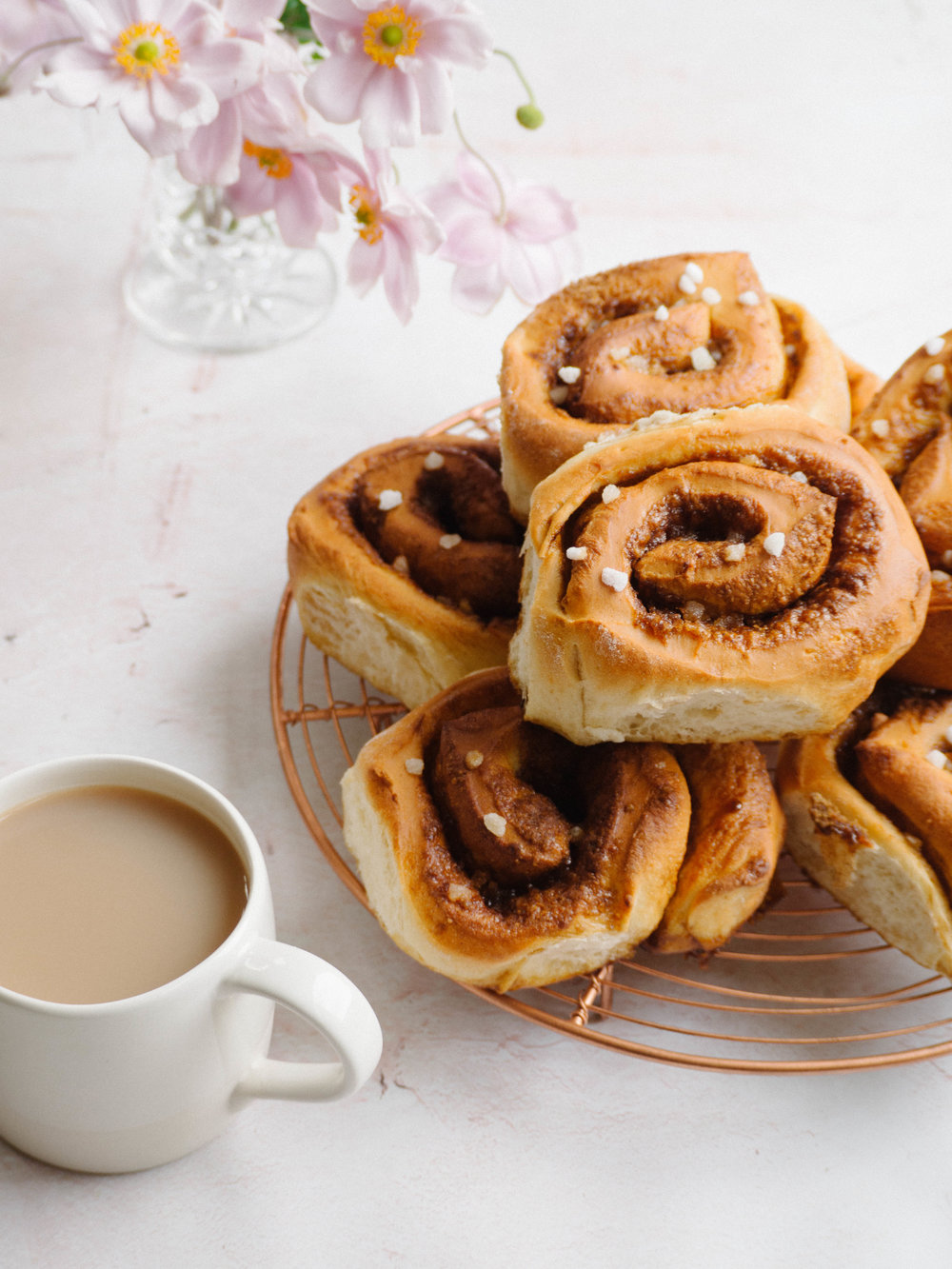 Easter Spiced Brioche Scrolls using The Healthy Baker's Low FODMAP Plain Flour