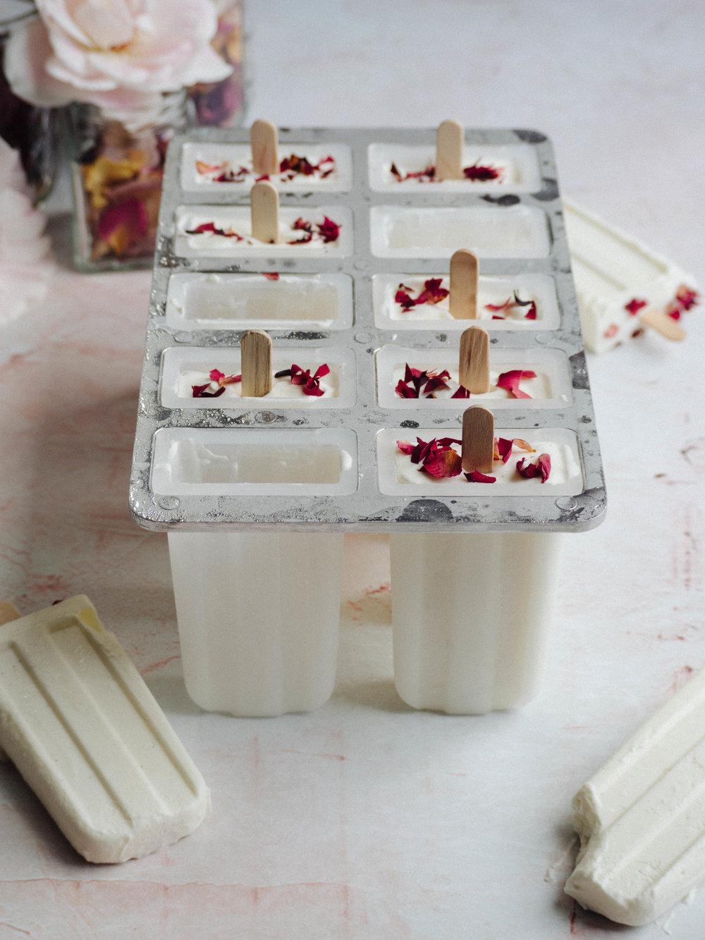Rose & Vanilla Bean Ice Creams