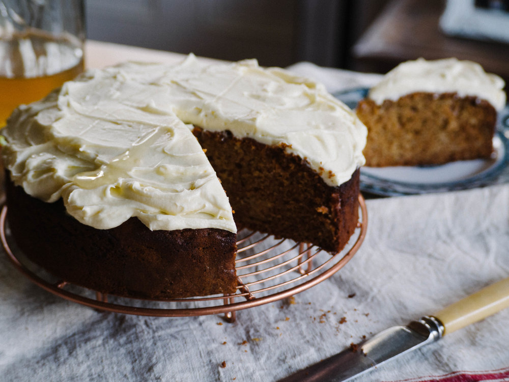 Apple & Honey Cake with Honeyed Cream Cheese Icing - Recipe in Seasonal Cakes & Bakes eBook