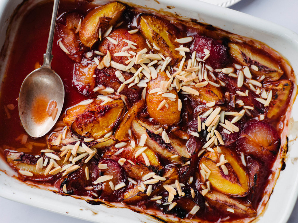 Roasted Summer Stone Fruit