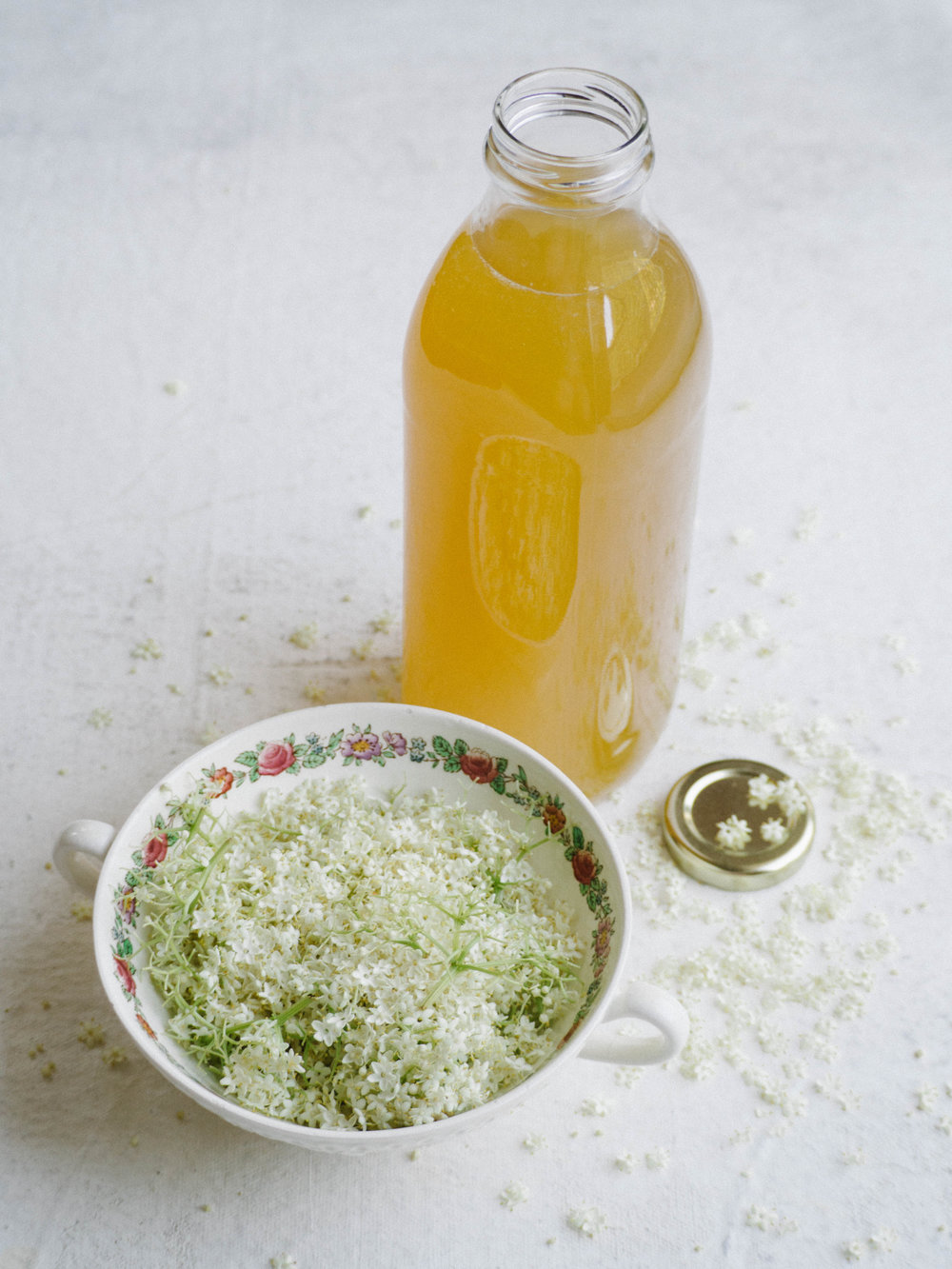 Elderflower and Lemon Cordial (Recipe One)