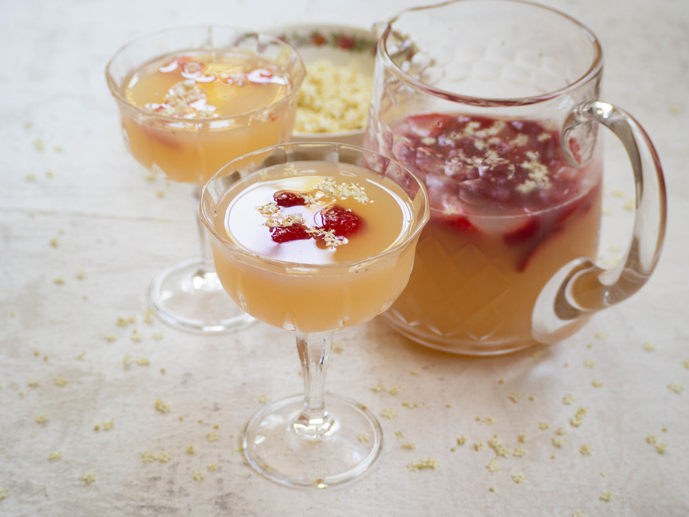 Elderflower Strawberry & Rose Cordial