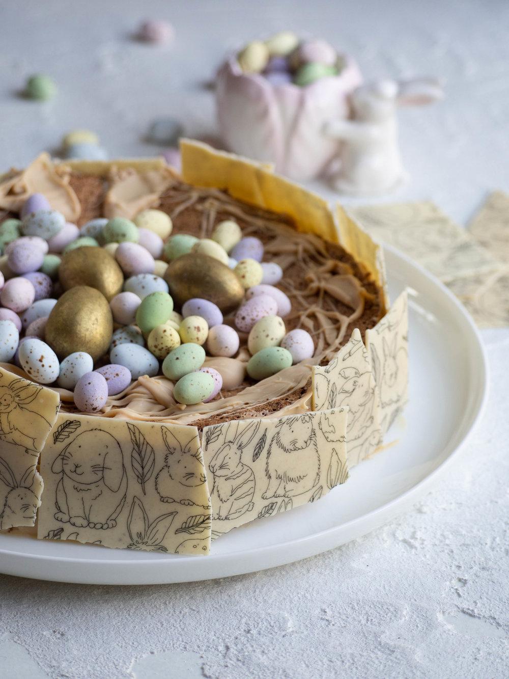 White Chocolate Passover Torte