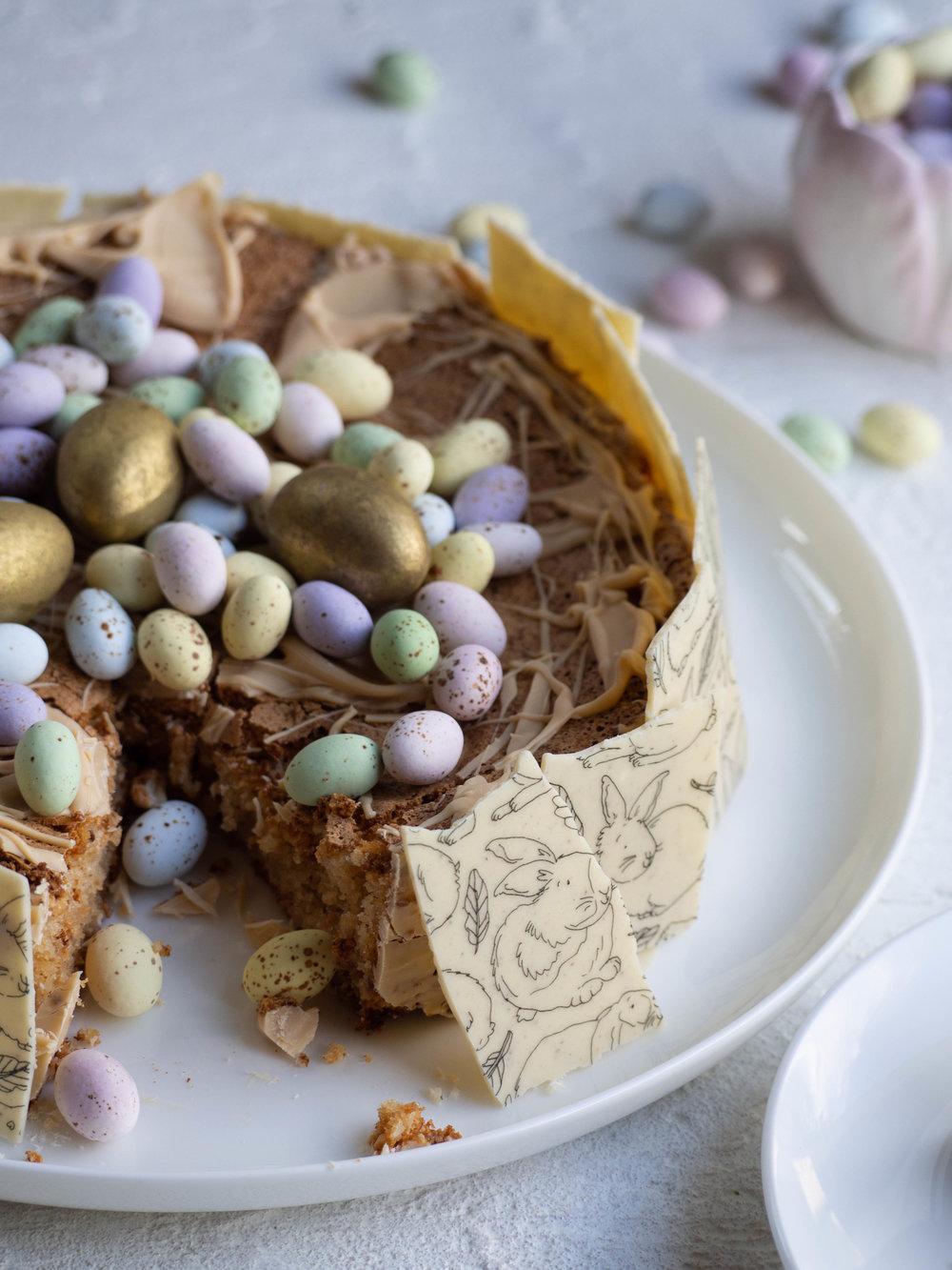 Caramelised White Chocolate Torte