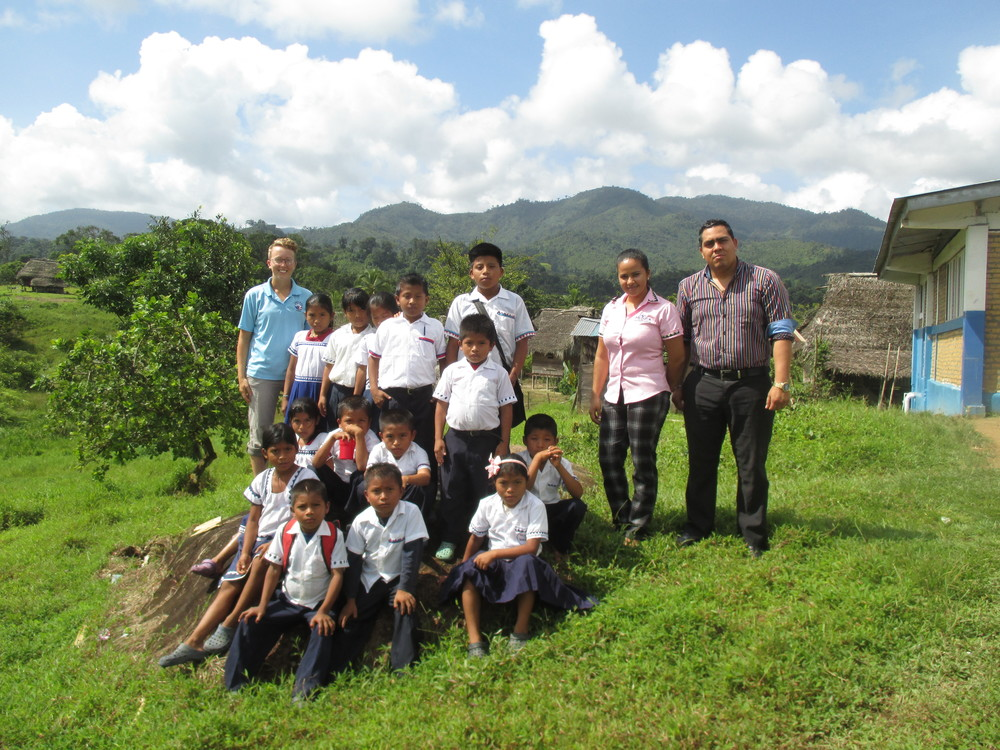 These are children and teachers from Panama with whom Elsie's 2nd/3rd graders correspond.