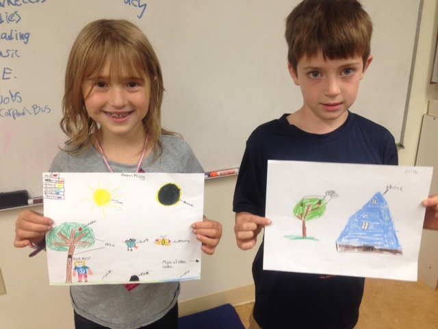 More Arbor students with the drawings they will send to Panama next week!