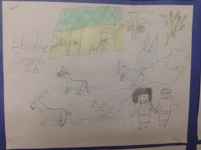 A drawing of life in Panama from Ebdiel to Elsie's Arbor class.