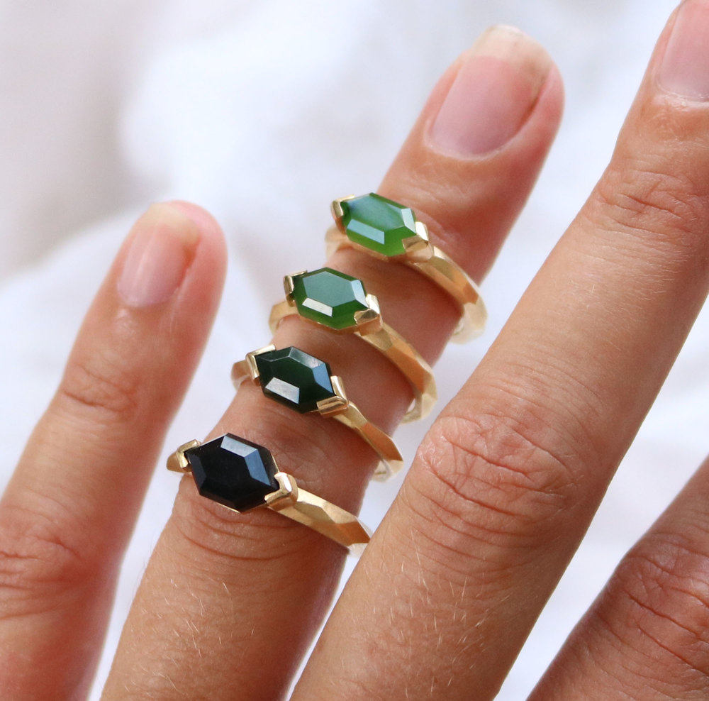 Pounamu Rings by Courtney Marama Jewellery
