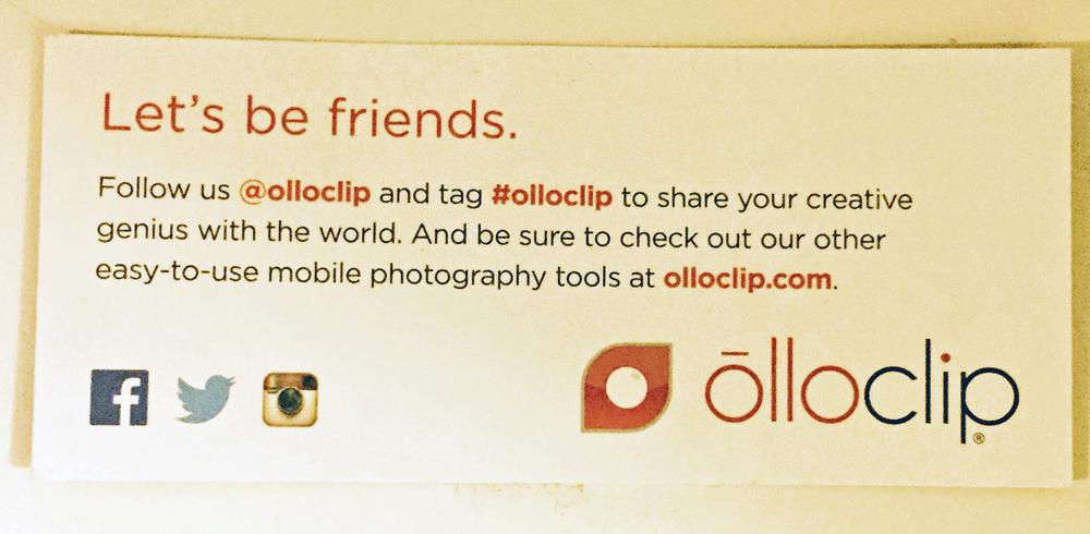 Olloclip Card