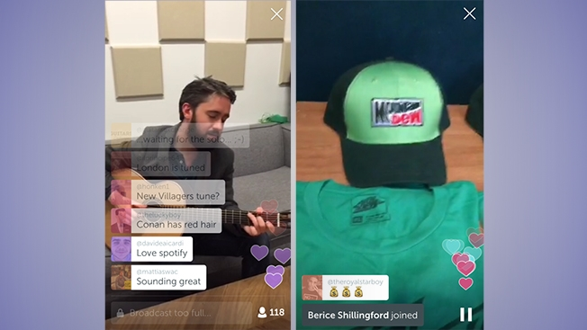 Spotify's live stream of Villagers Conor O'Brien on Periscope (From: Adweek)