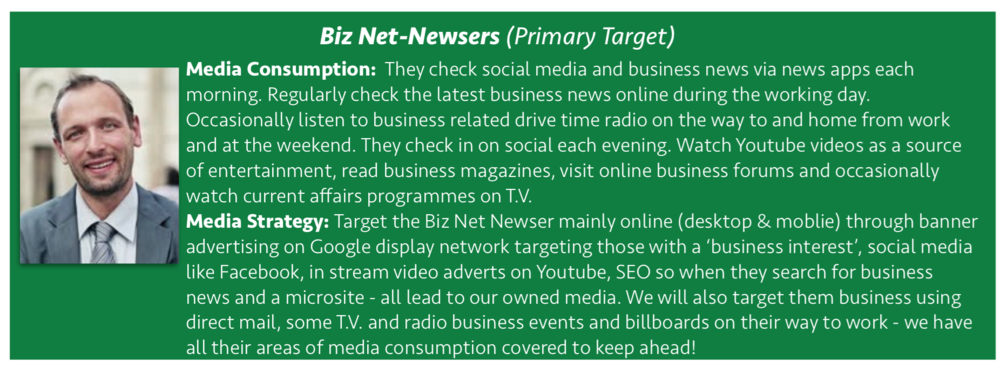 The Media Consumption of the Biz Net-Newser.