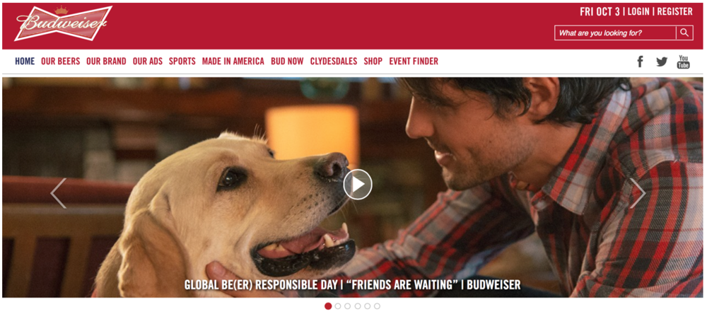 Budweiser Website