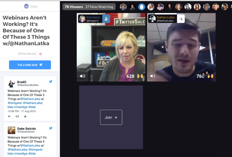 Marketer Kim Garst and Entrepreneur Nathan Latka discuss why webinars are not working leaving seats free for members of the audience to jump in and share their thoughts or ask a question.
